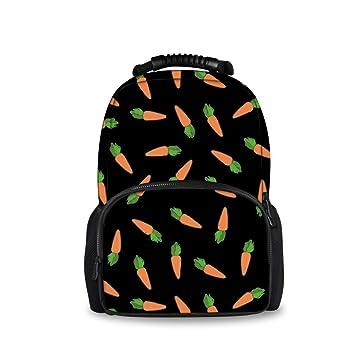 GLORY ART Teenager Carrot Patrones Mochila Escolar Cuaderno Mochila Diario: Amazon.es: Hogar