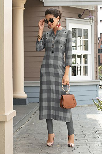 Partywear Women Traditonal Grey Ethnic Designer Indian Readymade Facioun Kurti 3 Da WgP6zqXRP
