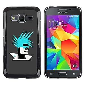 TopCaseStore / la caja del caucho duro de la cubierta de protección de la piel - Abstract Portrait - Samsung Galaxy Core Prime SM-G360
