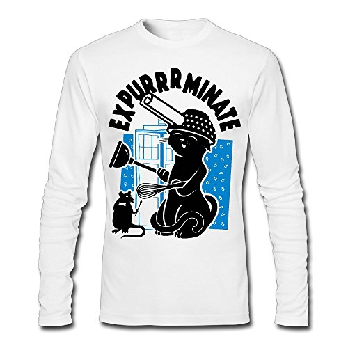 Expurrrminate Funny Printed Cotton Long Sleeve Jersey T-shirt For (Halloweens Meaning Bible)