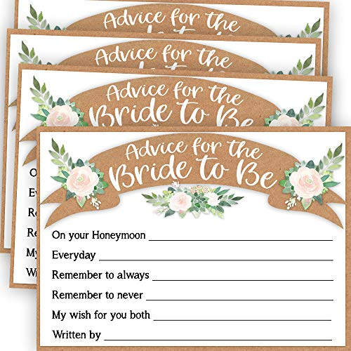 Bridal Shower Advice Cards, Advice for the Bride Cards, Fun Bridal Shower Game, Bride Advice Cards, Advice and Well Wishes for the Bride Cards, 50 Cards per Game, Wedding Shower Card Game -