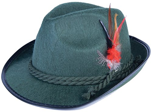 Forum Novelties German Bavarian Alpine Oktoberfest Hat – One Size - Green ()