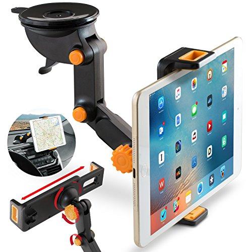 Tablet Halterung KFZ, BEZ® Universelle Windschutzscheibenhalterung, IPad Autohalterung, Anpassbare Tabletautohalterung, Windschutzscheiben- und Armaturenbrett Universelle Autohalterung für Smartphones und Tablets wie 3,5-11 Zoll Geräte, Nexus 5X/6P,iPad Air 3/2/mini2/4,Galaxy S7/S6/S5/S7 Edge/S6 Edge, Sumsung Note5,iPhone SE/6/6 Plus/5S/5, Sony Xperia, Microsoft telefone, HTC, LG, GPS