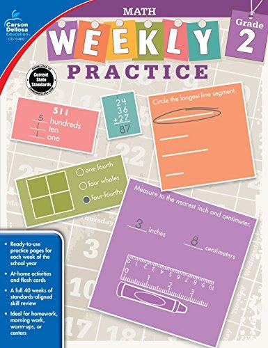 Carson-Dellosa Weekly Practice: Math Workbook, Grade 2