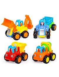 Toddler Baby Toy Push and Go Friction Powered Car Toys Sets of 4 Tractor Bulldozer Mixer Truck and Dumper for Children Kids Boys and Girls Puzzle growth 1 Year Old to 3 Year Old BOBEBE Online Baby Store From New York to Miami and Los Angeles