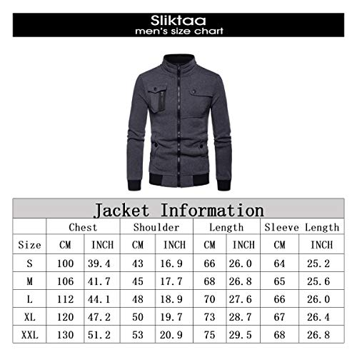Noir Parka Couleur Unie Slim Trench Veste Simple Caban Coat Homme Manteau Chaud Hiver Casual Sliktaa Fit ZAqYO