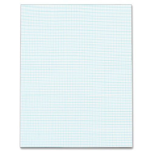 TOPS Quadrille Pad, 8.5 x 11 Inches, 20 Pound Stock, 50 Sheets, White
