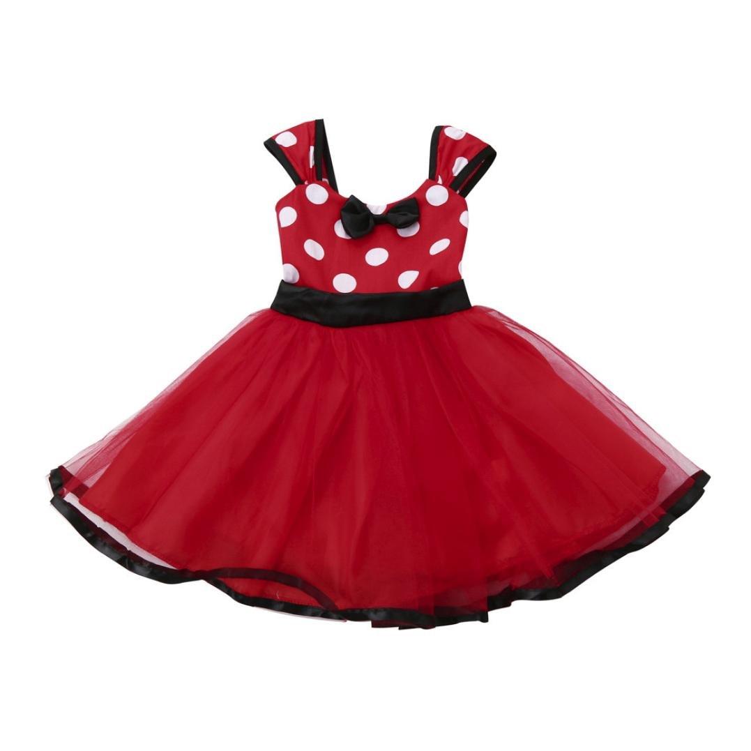 Jarsh Kids Girl Polka Dots Christmas Birthday Princess Party Cosplay Tutu Dress