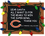 Chicago Bears Official NFL 3 inch x 4 inch Chalkboard Sign Christmas Ornament