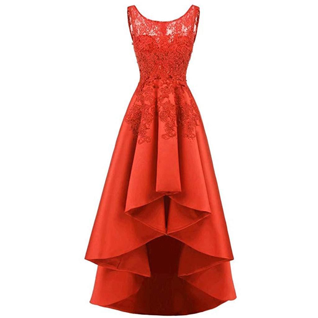 数量は多 エレガントなレースのバックロングショート女性のイブニングドレスの花嫁介添人ドレスラウンドネックノースリーブ8色 US:12 B07QLX7V2M US:12|オレンジ オレンジ オレンジ B07QLX7V2M US:12, トレハン:92ae01a4 --- a0267596.xsph.ru