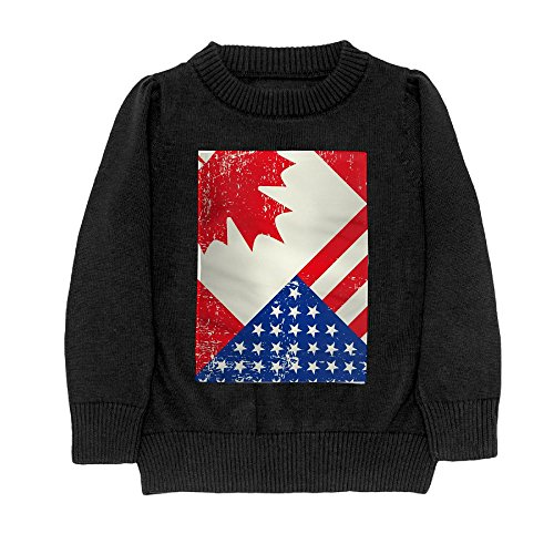 Hailin Tattoo Granddaughter Cool Fit Knit Sweater Pullover Printed Flag Day Merica Independence Day Canada Casual Shirt Sweater Printed S-XL Black Small
