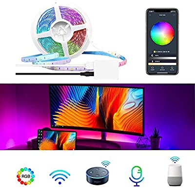 Led Strip Lights 6.56ft for 32-60in, USB TV Backlight Kit with 44key IR Remote - LUMIMAN 20 Color 5050 RGB Waterproof Bias Lighting for HDTV