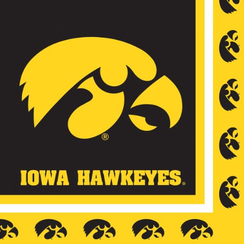 Creative Converting Iowa Hawkeyes Luncheon Napkins (20 Count) -