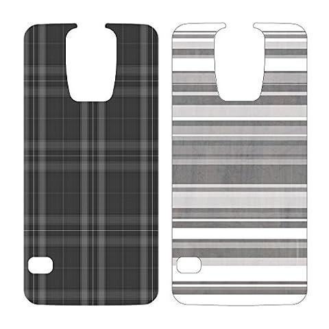 OtterBox My Symmetry Graphic Insert 2PK for Samsung Galaxy S5 - Grey Plaid andGrey Stripe (Otterbox Samsung Galaxy S5 Skin)