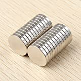 Round Cylinder Magnets for Arts Crafts Hobbies and Office Organization Round Disc Multi-Use & Refrigerator Magnets - Set of 20