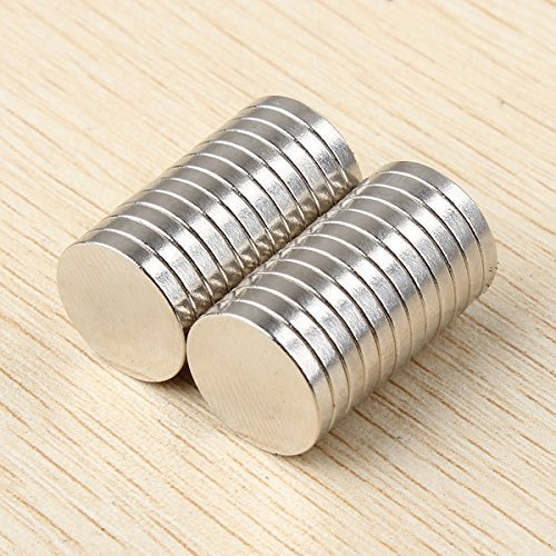 Round Cylinder Magnets for Arts Crafts Hobbies and Office Organization Round Disc Multi-Use & Refrigerator Magnets - Set of 20 by HOLA777