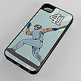 iPhone Case Fits iPhone 7 PLUS 7+ Hybrid Tough Case Baseball Homerun Hitter Grand Slam Any Custom Jersey Number 41 Black Plastic Black Rubber