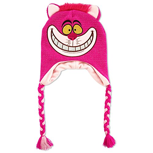 Disney Big Girls Alice in Wonderland Cheshire Cat Laplander Hat, Pink, Age 7-16]()
