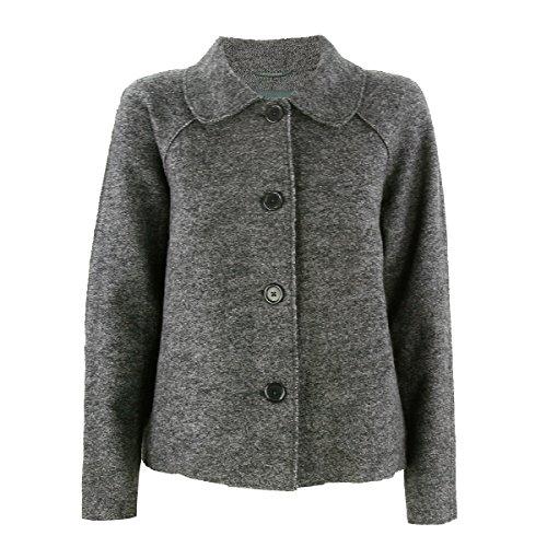 Caroll - Chaqueta corta de Eco de lana de langerchen en Granite gris Large: Amazon.es: Ropa y accesorios