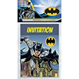 Batman Invitations - Birthday Party Supplies - 8 per Pack - From Fun365