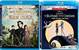 Sing with Disney Jack Nightmare Before Christmas Director Tim Burton Blu Ray + Miss Peregrine's Home for Peculiar Children Fantasy 2 film Double Feature Bundle