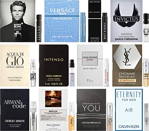 - Best Selling Designer Fragrance Sampler for Men - Lot x 12 Cologne Vials