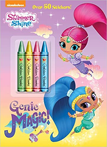 Genie Magic Shimmer And Shine Color Plus Crayons Sticker Amazoncouk Golden Books 9780553522051