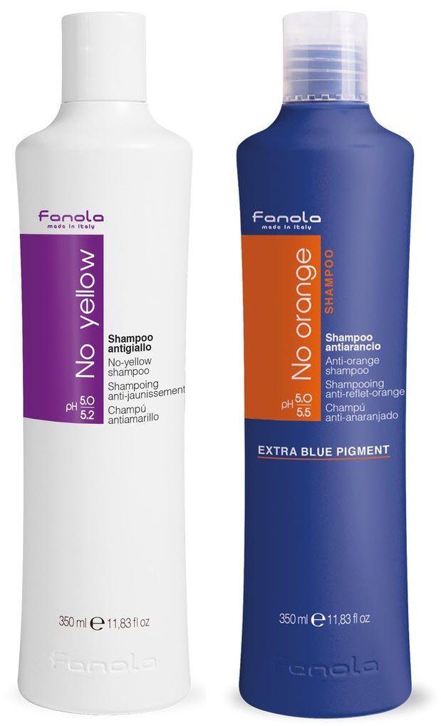 Fanola No Yellow and No Orange Shampoo Package, 350 ml