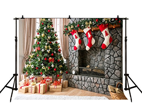 Kate 10x10ft Christmas Backdrops Photography Stone Fireplace Xmas Photo Backdrop Studio Prop