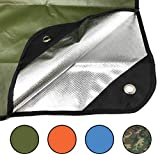 Arcturus Heavy Duty Survival Blanket - Insulated Thermal Reflective Tarp - 60' x 82'. All-Weather, Reusable Emergency Blanket for Car or Camping (Olive Green)