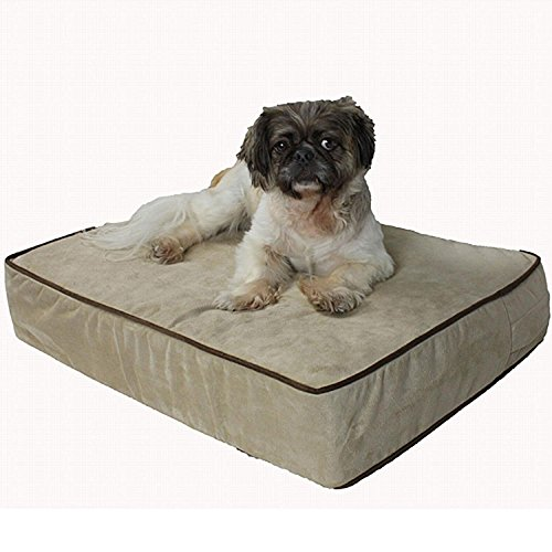 Snoozer Outlast Dog Bed Sleep System 5-Inch Thick, Small, Buckskin/Java For Sale