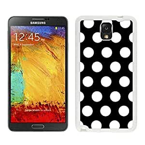BINGO good review Polka Dot Black and White Samsung Galaxy Note 3 Case White Cover