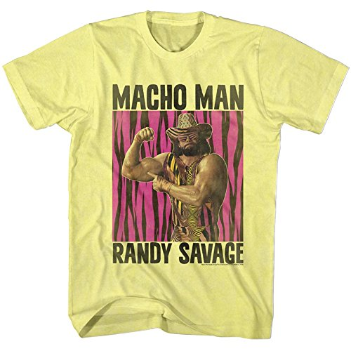 Camiseta 2bhip Heavywe hombre Wwf Heather luchador Yellow 1980 para Man Macho Muscle wYxqrYTB