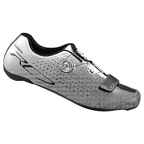 Shimano SH-RC700, Scarpe da Ciclismo su Strada Unisex Adulto, Bianco, 46 EU