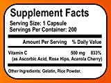 Sonora Nutrition Vitamin C with Rose Hips and Acerola 500 mg, 200 Capsules - 51Gvrvs6nrL - Sonora Nutrition Vitamin C with Rose Hips and Acerola 500 mg, 200 Capsules