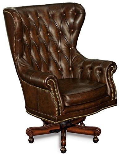 Hooker Furniture Erin Executive Swivel Tilt Chair, Brown