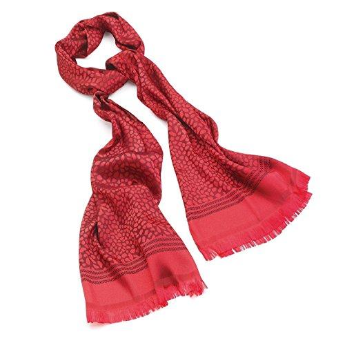 Scarf Rosso Pashmina Sciarpa Coprispalle Animal Wrap Nappa Print Scialle Nappa xOZZw8z