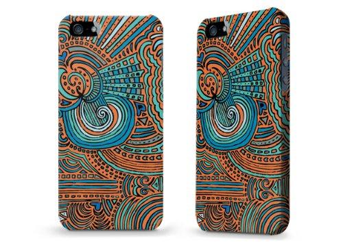 """Hülle / Case / Cover für iPhone 5 und 5s - """"Drawing Meditation Orange"""" von Kaitlyn Parker"""