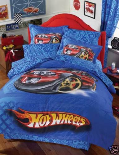 Beau Hot Wheels Dragster Comforter Bedding Set Twin 6 Pcs