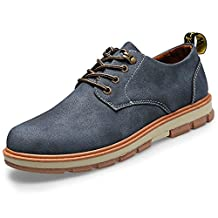 DIMAOLV Men's Shoes PU Spring Fall Comfort Sneakers for Work & Safety Yellow Brown Blue,Blue,US7 / EU39 / UK6 / CN39