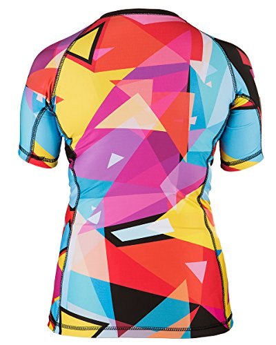 Rule Out Short Sleeve Rash Guard Top. Femmes. Gym. Taining. Sportswear. Running. Cycling. Triangles. Motivation. Women Colection. Compression T-shirt. MMA Fightwear