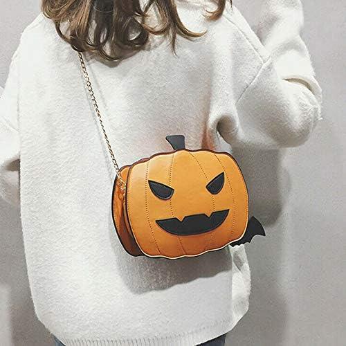 `Lady Pumpkin Handbag Halloween Candy Bag Little Devil Shoulder Messenger Bag`
