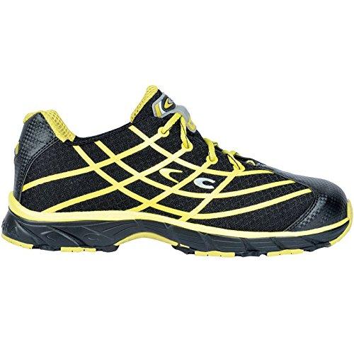 """Cofra zapatos de seguridad S1P """"New Alien Black workflying de serie deportivo zapato de seguridad con puntera mediante pedalada–Microfibra Negro/Amarillo–Muy Transpirable"""