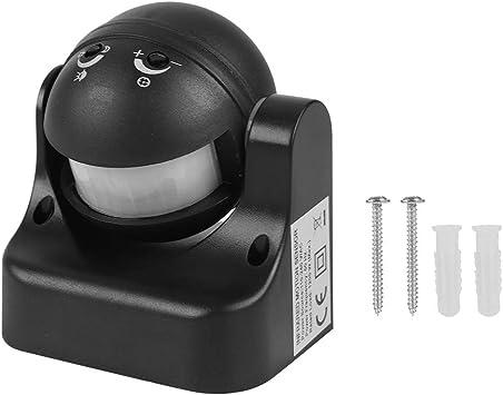 Tangxi Detector de Movimiento Mini PIR de 180 Grados Sensor infrarrojo AC 110 a 240V Interruptor de Movimiento IR Impermeable a Prueba de Polvo al Aire Libre (Negro): Amazon.es: Electrónica