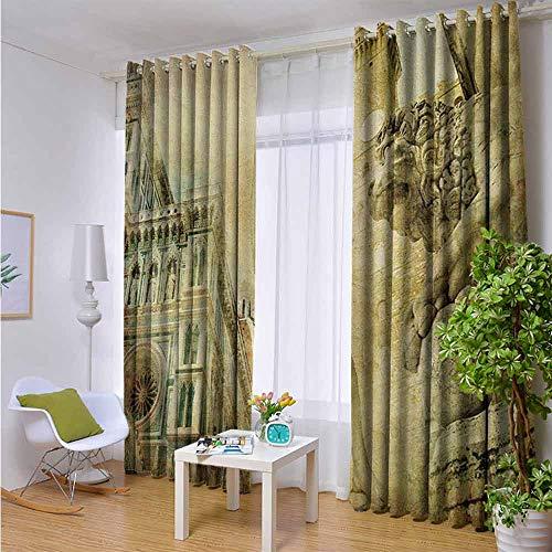 Full Light Blocking Window Treatment Curtains Grommet 72