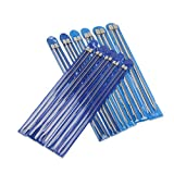 "PIXNOR Knitting Needles 11 Pairs - Stainless Steel, Straight, 14"" in Sizes 2mm to 8mm"