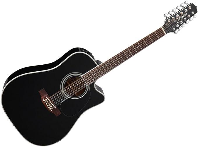 Takamine EF381SC Dreadnought - Guitarra acústica con funda rígida (12 cuerdas): Amazon.es: Instrumentos musicales