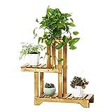 Edge to Flower Racks Wooden Flower Rack Flowerpot Display Shelf Multifunction Plant Stand, HWD: 665525 cm, Light Brown