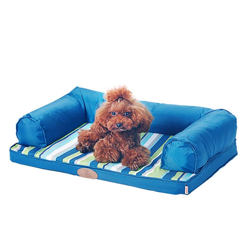 80×60cm SSB Pbeds Thick Orthopedic Comfortable Dog Bed, Durable And Comfortable Pet Couch With Pillows, Suitable For Indoor Travel, Various Dogs cats pets (Size   80×60cm)