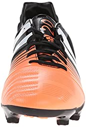 adidas Performance Men\'s Nitrocharge 2.0 Firm-Ground Soccer Cleat, Core Black/Running White/Flash Orange, 12.5 M US